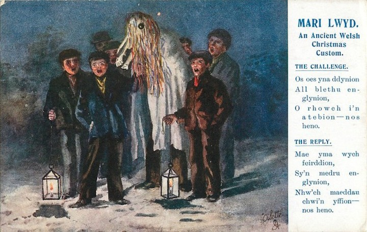 Mari Lwyd, the Scary Welsh Christmas Horse - Globetrotting horse riding holidays