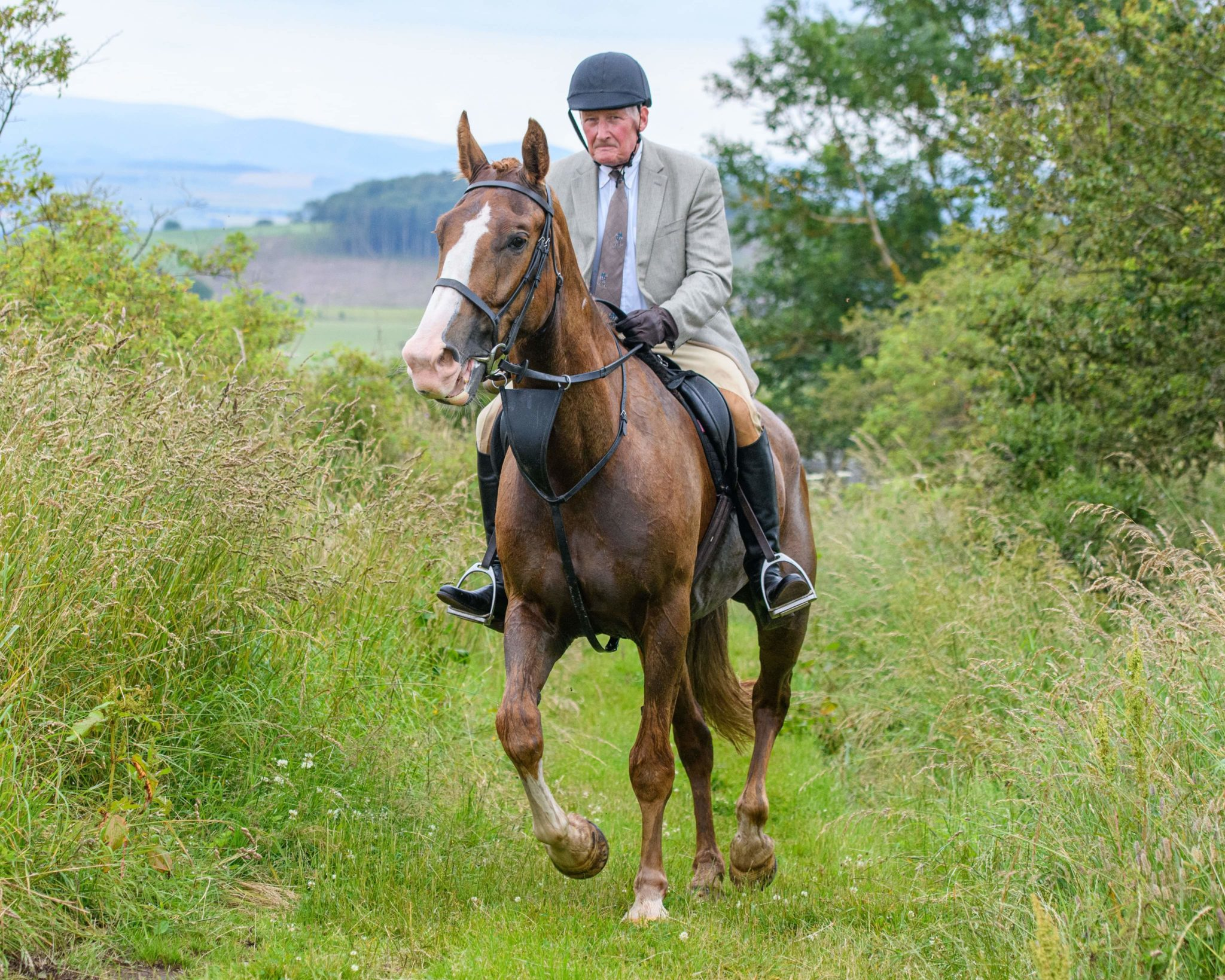 Meet a Globetrotter: Gerard Schmid - Globetrotting horse riding holidays - The Scottish Borders Ride