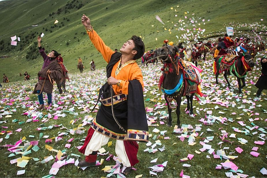 Litang Horse Racing Festival, Sichuan Province, China - photo by Marc Ressang/The Diplomat - Globetrotting horse riding holidays