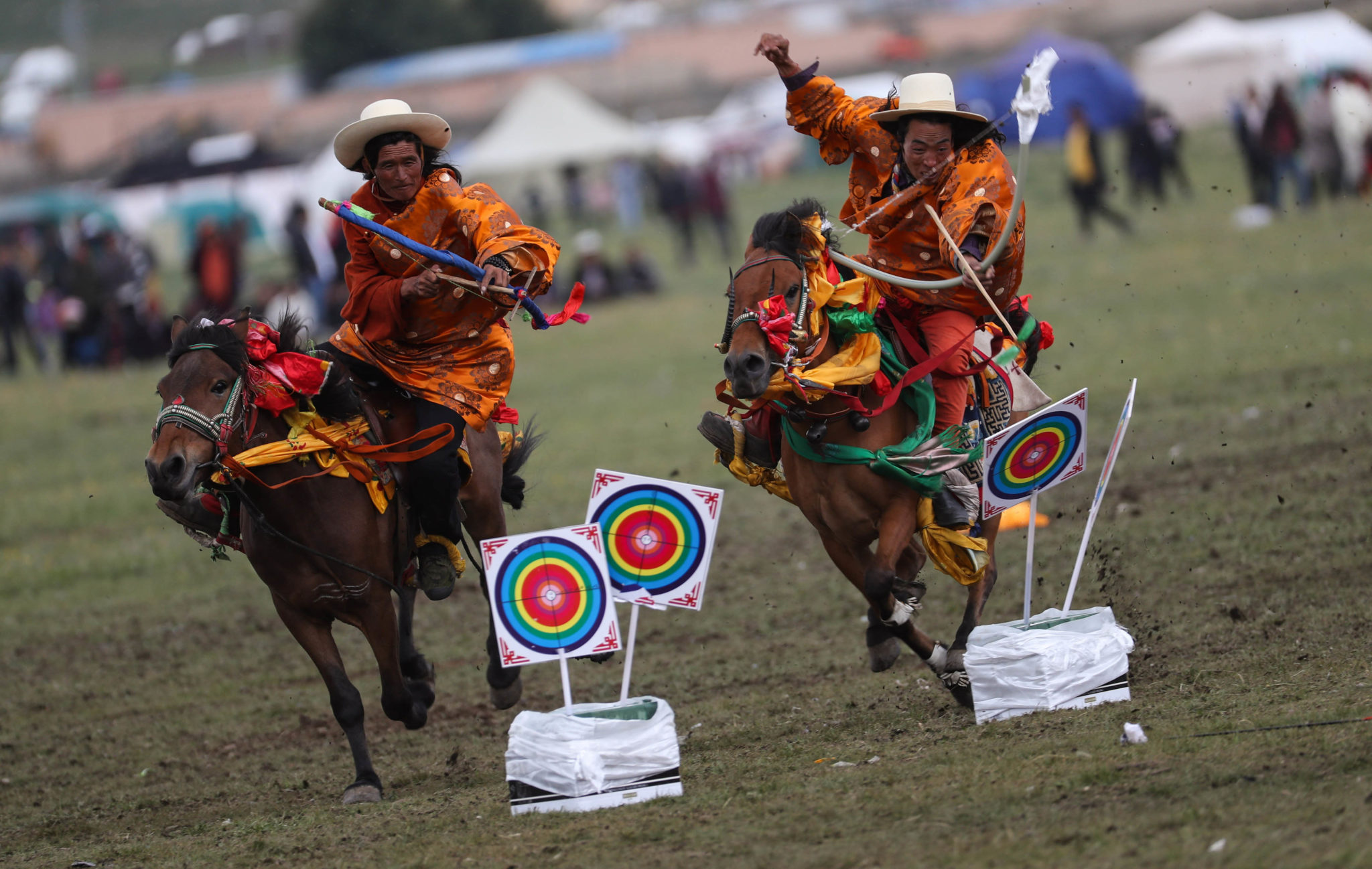 Litang Horse Racing Festival, Sichuan Province, China - photo by Xinhua/Jiang Hongjing - Globetrotting horse riding holidays