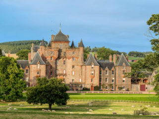 thirlestane castle in scotland with surrounding parklands