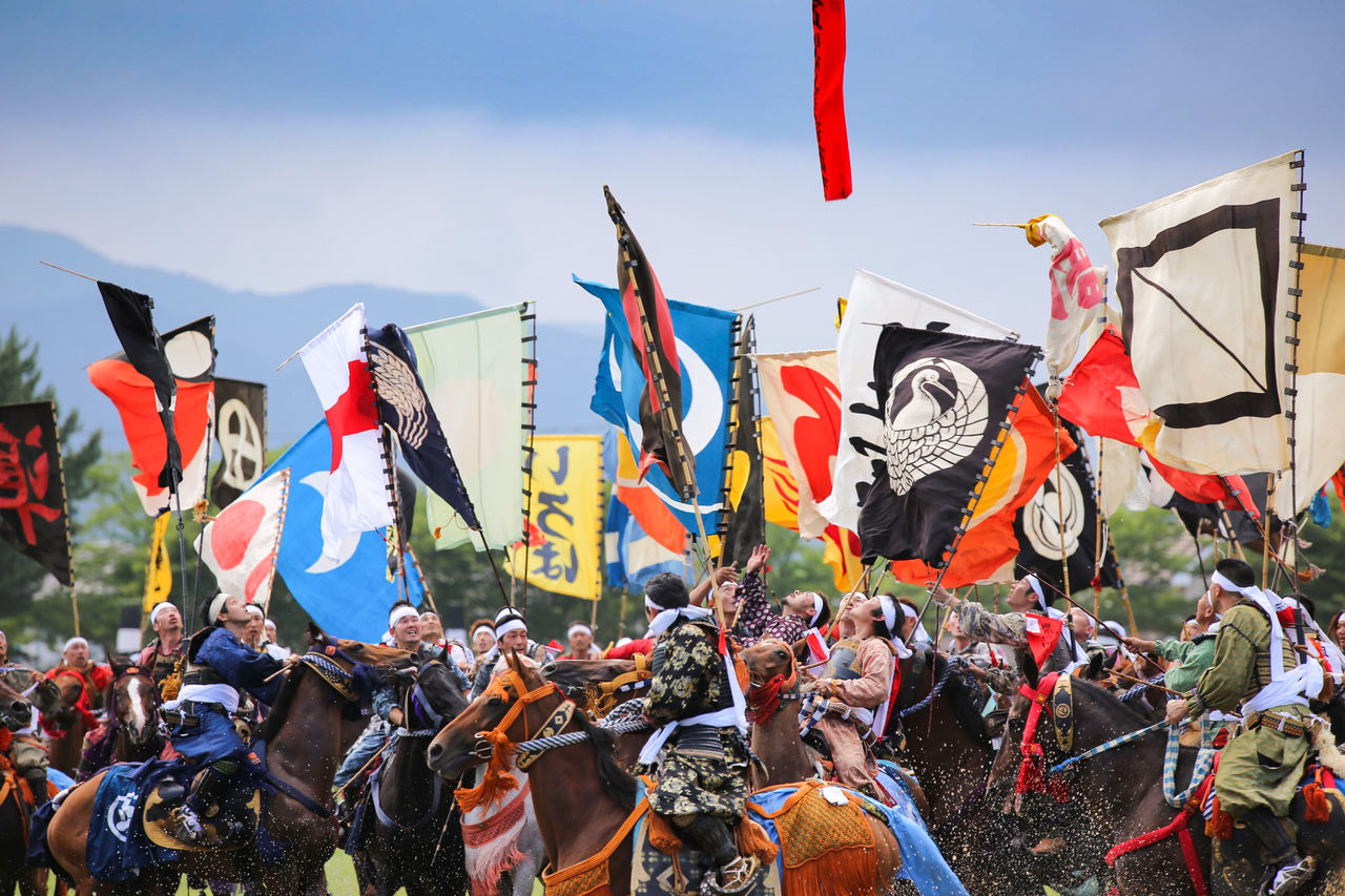 Sma Nomaoi festival, Japan - image via Sōma Nomaoi Executive Committee - Globetrotting horse riding holidays