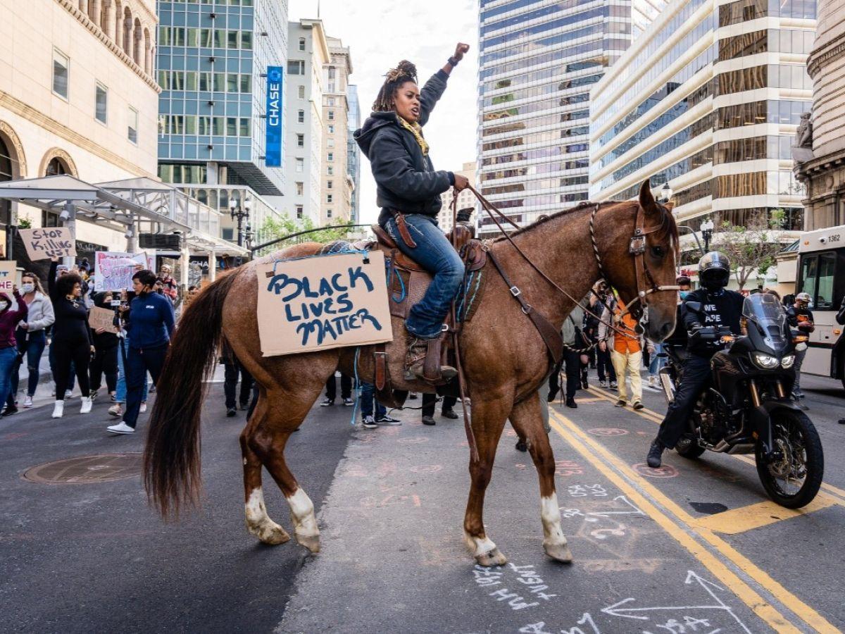 Heels Down, Fists Up: Bri Noble and Black Lives Matter - photo by Shira Bezalel - Globetrotting horse riding holidays
