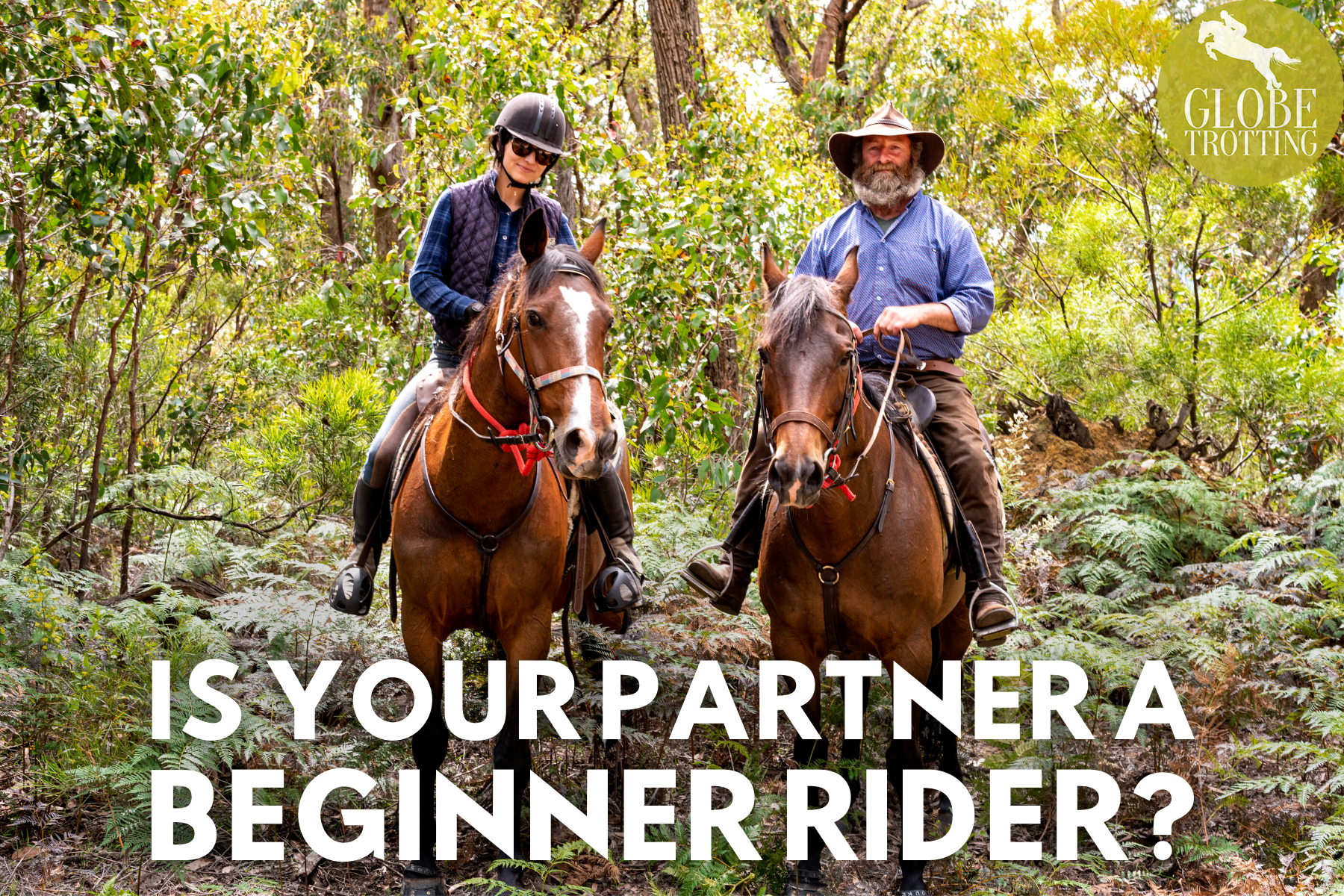 Is your partner a beginner rider? Globetrotting horse riding holidays