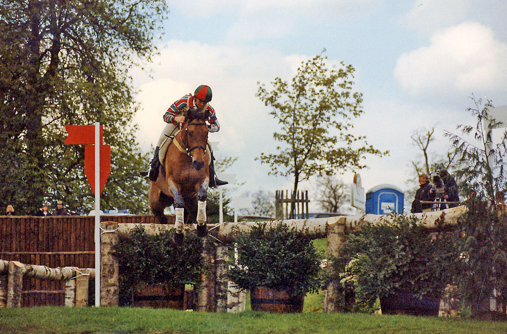 Wendy Schaeffer at the 1996 Badminton Horse Trials - photo by Beechwood Photography via Flickr (CC BY-NC-SA 2.0)