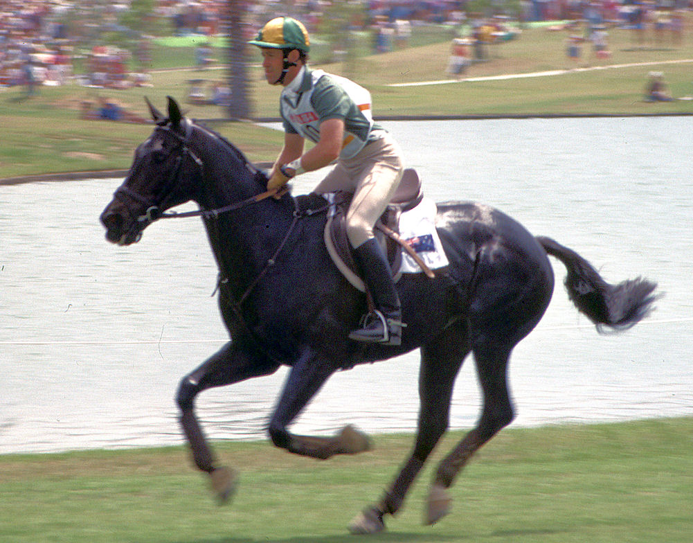 Andrew Hoy riding Davey at the 1984 Olympics - photo by Virginia Hill on Flickr (CC BY-ND 2.0) - Globetrotting horse riding holidays