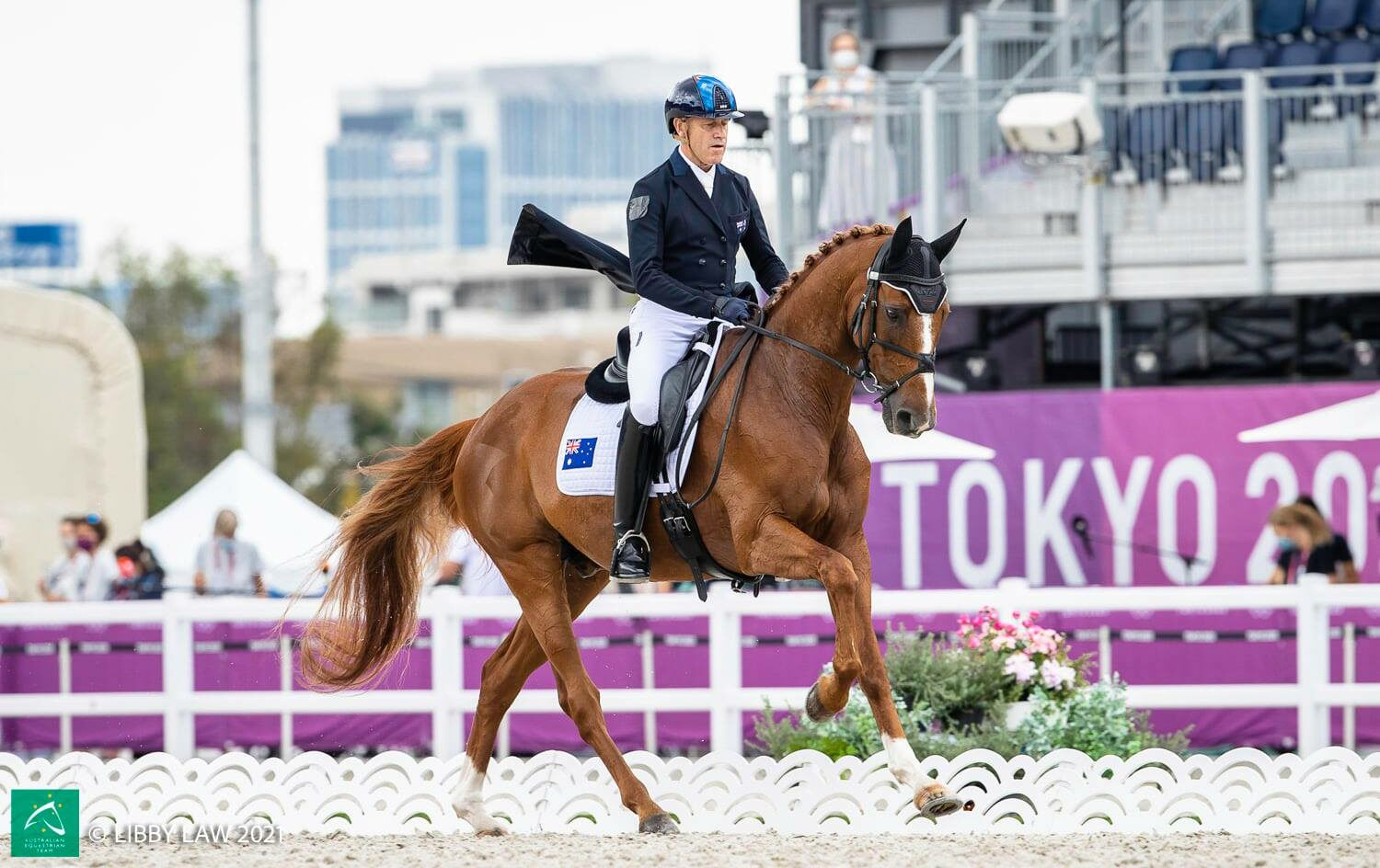 Andrew Hoy competing at the Tokyo 2020 Olympics - image credits: Australian Equestrian Team/Libby Law