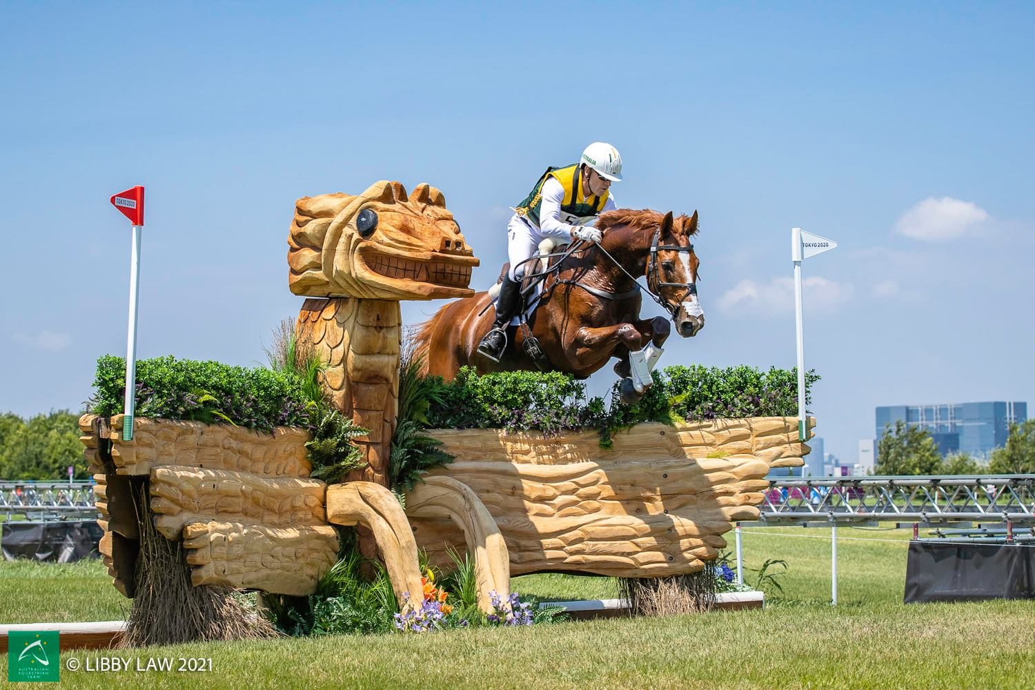 Andrew Hoy competing at the Tokyo 2020 Olympics - image credits: Australian Equestrian Team/Libby Law Photography