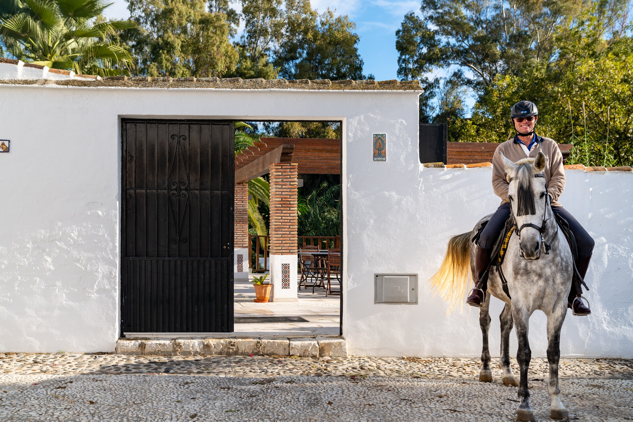 rider and horse on riding holiday in andalusia spain by globetrotting