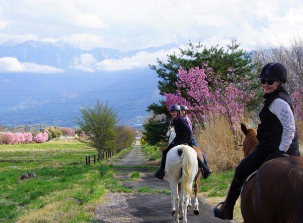 Globetrotting horse riding holiday Kobuchizawa, Japan