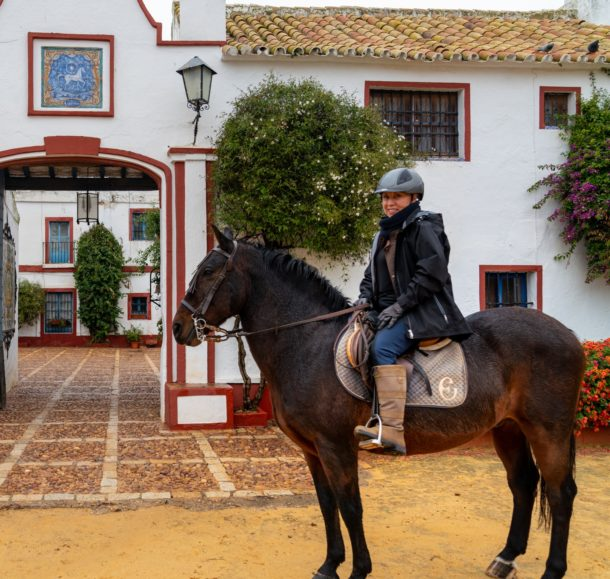 Globetrotting horse riding holiday dressage in Andalusia, Spain