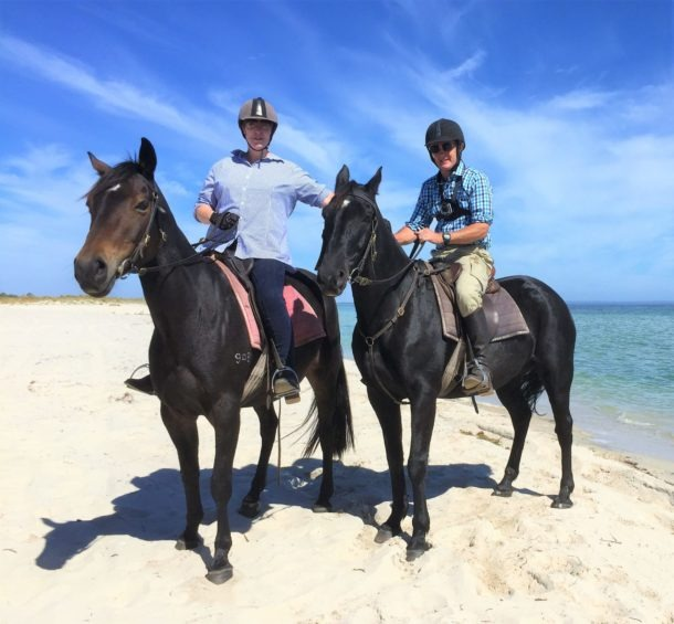 Globetrotting horse riding holiday Margaret River