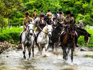 river crossing scottish borders ride horse riding holiday by globetrotting