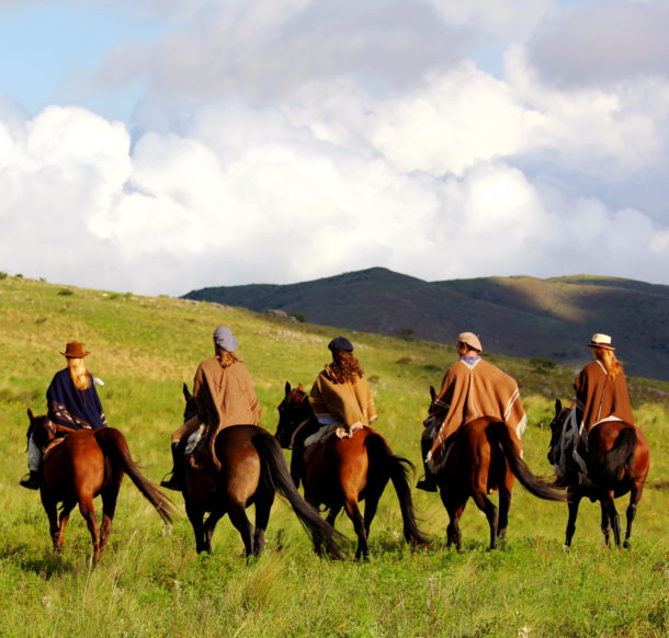 group of riders horse riding holiday globetrotting