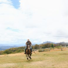 horse riding holiday snowy mountains