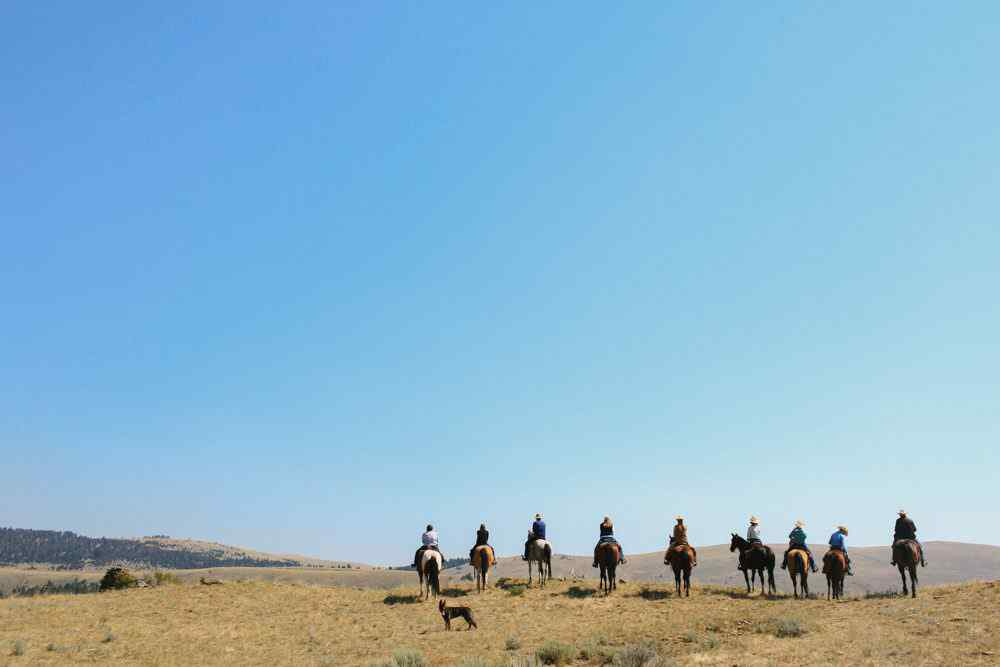horse riding holiday montana