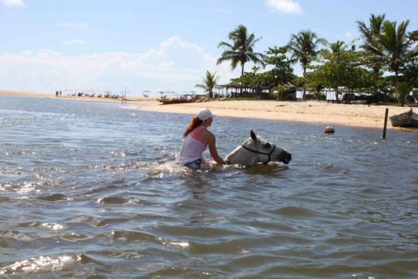 Globetrotting horse riding holiday Bahia Beach, Brazil