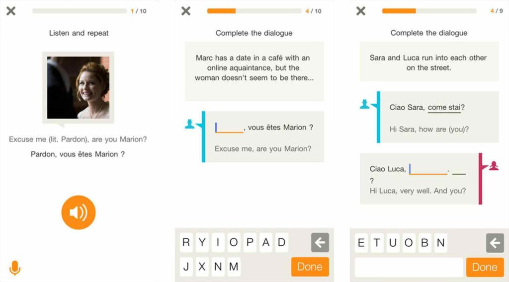 language learning iPhone app