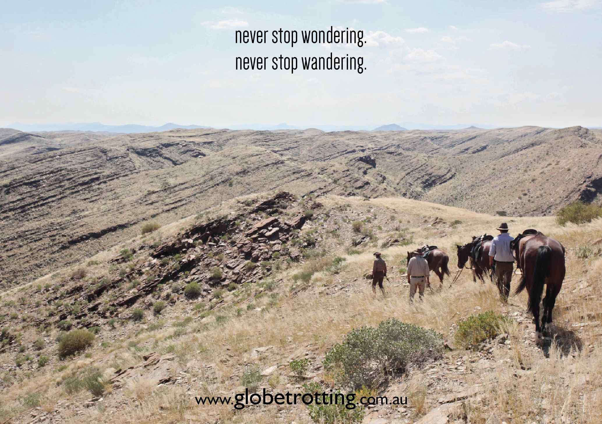 never stop wandering quote